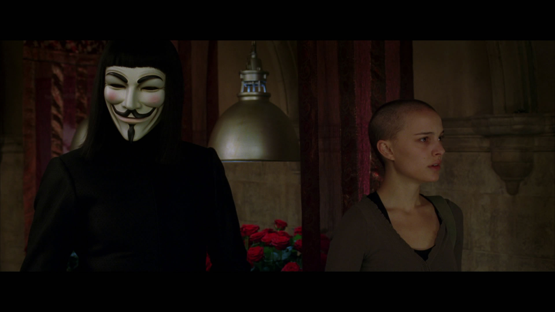 review of film v for vendetta It is the year 2020 a virus runs wild in the world, most americans are dead, and britain is ruled by a fascist dictator who promises security but not freedom one.
