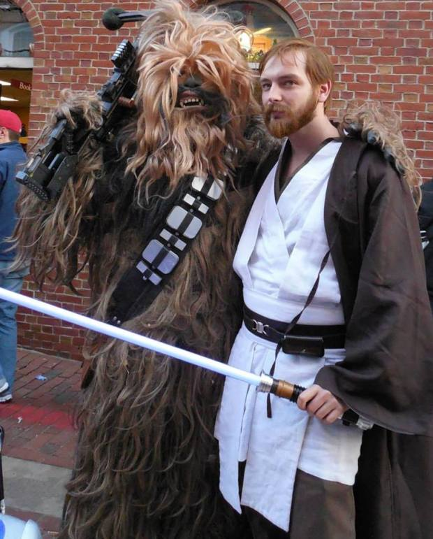 Me with Chewie in Salem, Mass