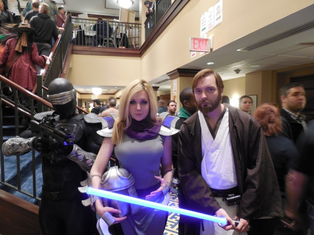 Me with my friends Spencer Doe (Snake Eyes) and Nicole Marie Jean (Shredder)