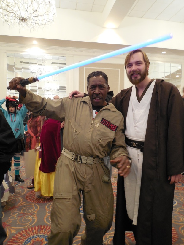 Me, teaching Ernie Hudson (Winston from Ghostbusters) some new tricks!
