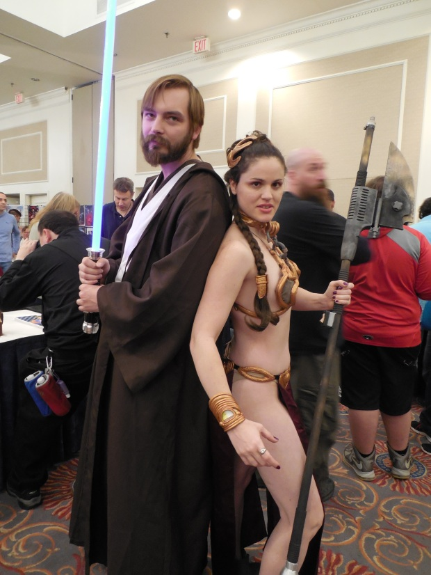 Me with Slave Leia at Super Megafest