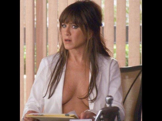 Jennifer Aniston - lax on the dress code at work.